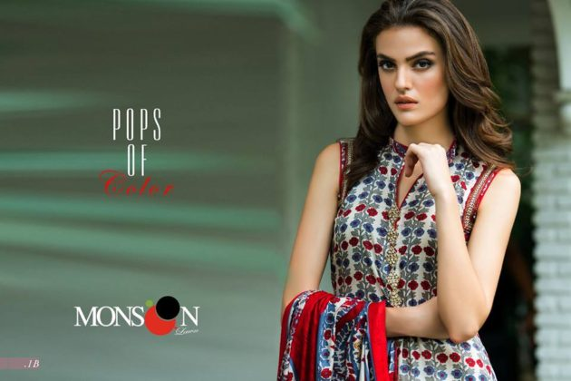 Monsoon Lawn Summer Outfits Alzohaib Textiles 2016