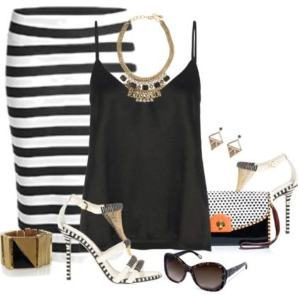 Summer Striped Polyvore Dresses To Try This Season