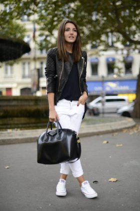 How To Wear White Sneakers With Different Outfits