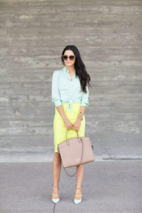 Mint Outfits Trend During The Autumn Season 2016-17