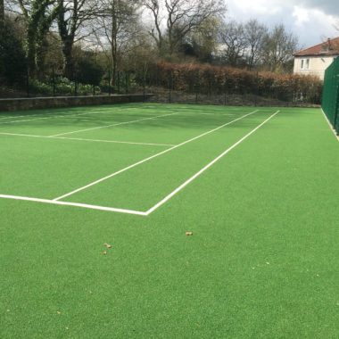 Tennis court build for house extension