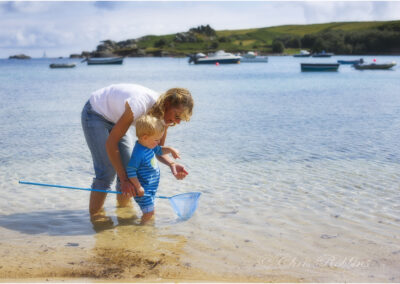 Old Town beach on the Isles of Scilly;  this image was used in a German travel brochure.