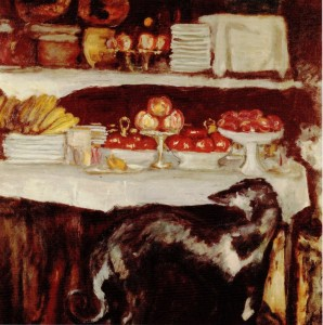 Bonnard-Greyhound_and_still_life_c1920-25_oil_on_canvas