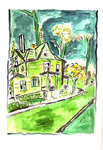 Bob_Dylan_House_on_Union_Street_2007-mixed_media_on_paper