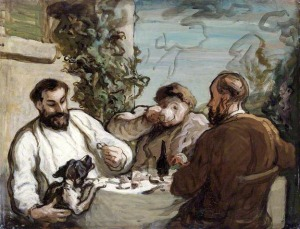 Daumier_Lunch_in_the_country_oil_on_board_1868_26x34cm
