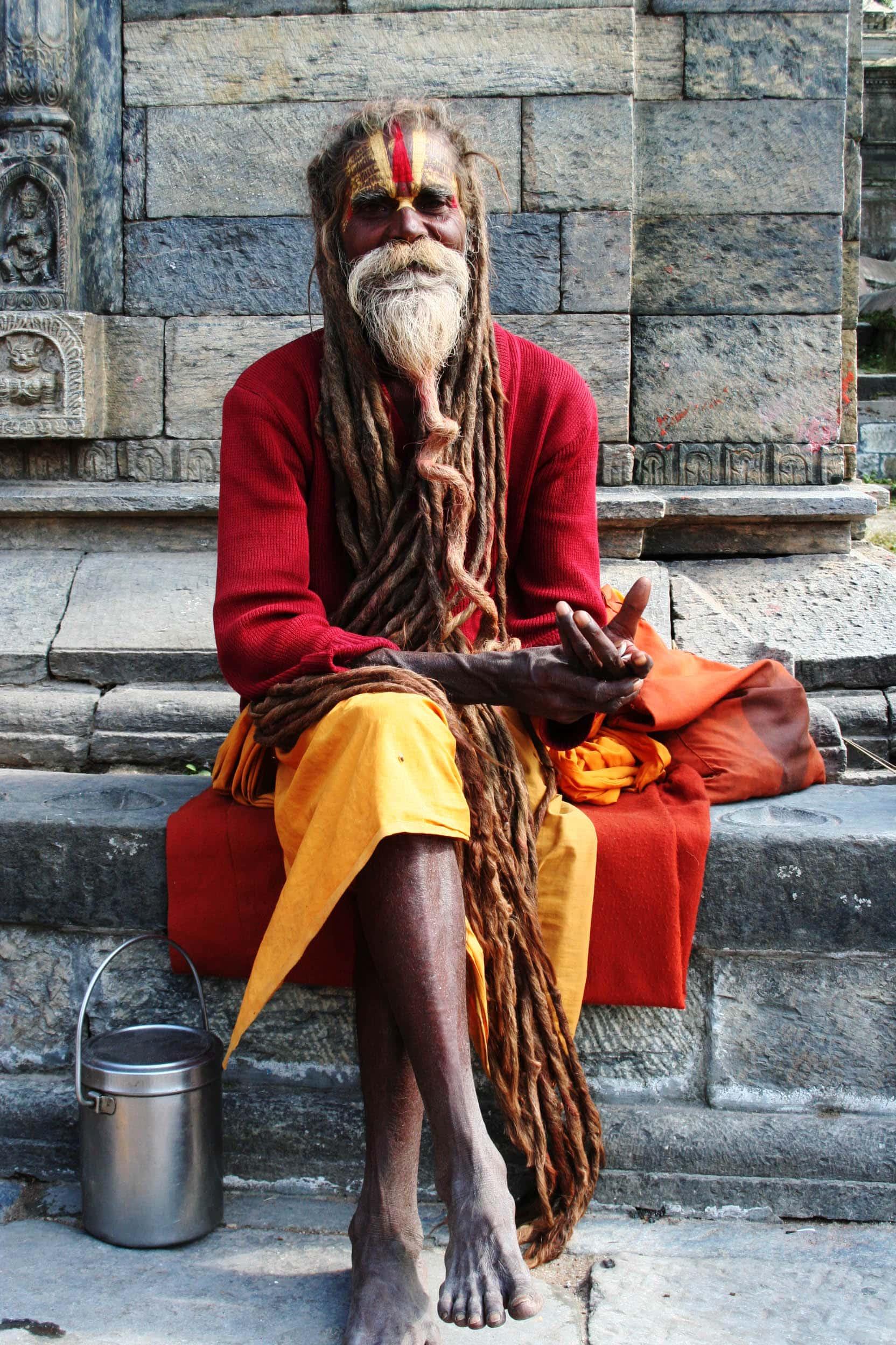 फ़टी हुई एक चादर ओढ़ , Indian Baba