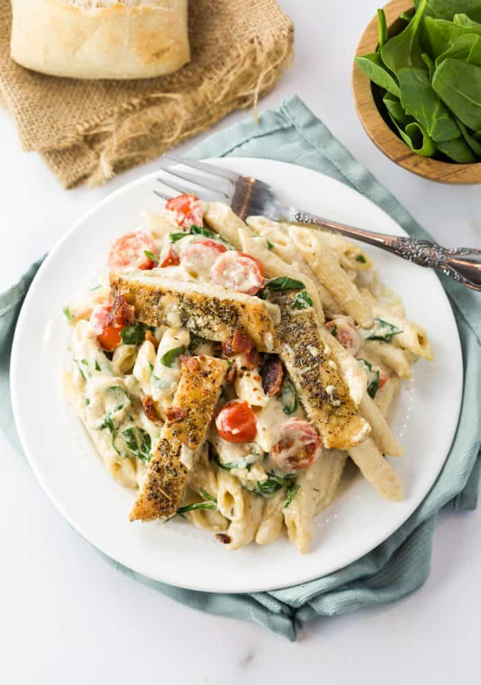 Chicken and Bacon Pasta with Spinach 4