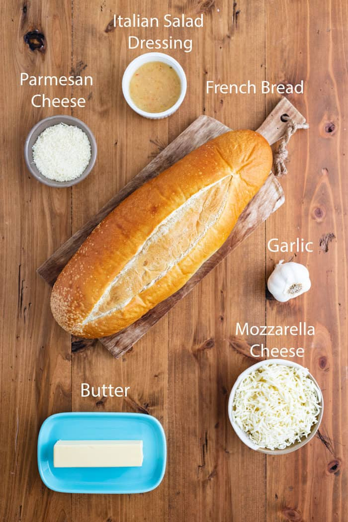 Ingredients-Cheesy-Homemade-Garlic-Bread-2