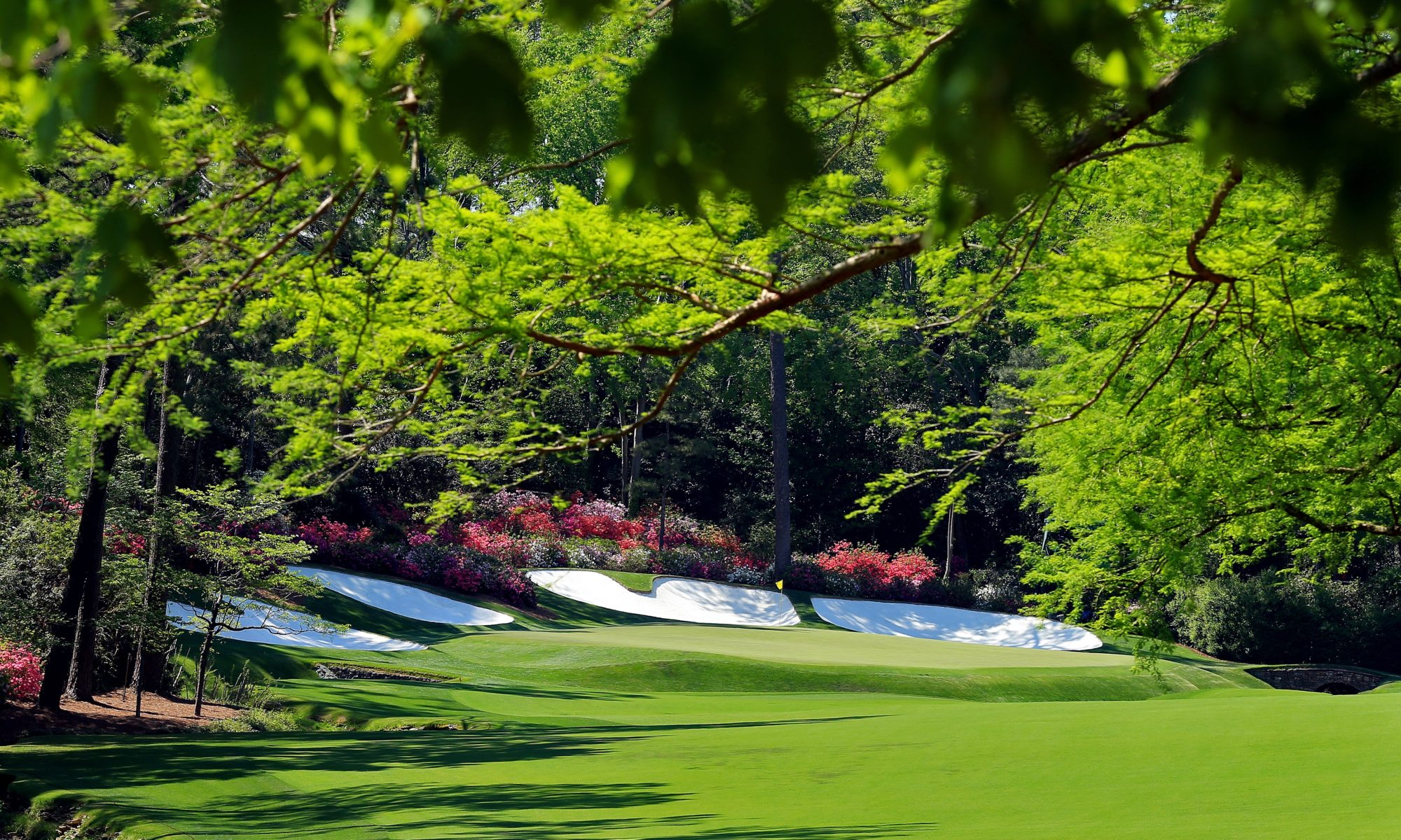 A view to the 13th green at Augusta National, home of The Masters