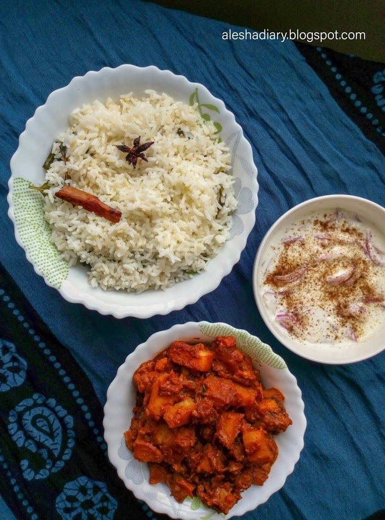 What I cooked for Lunch? – Easy Ghee Rice Recipe – Bachelor's ghee Rice