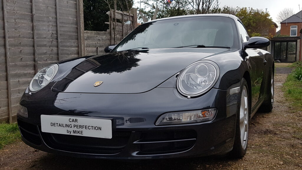 Porsche 911 Carrera S having been ceramic coated