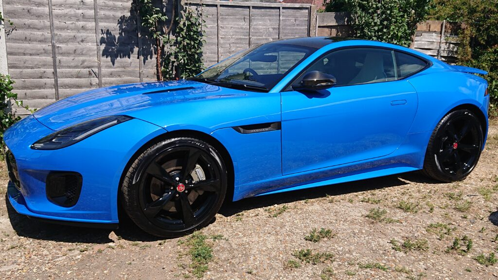 Jag F type ceramic coated