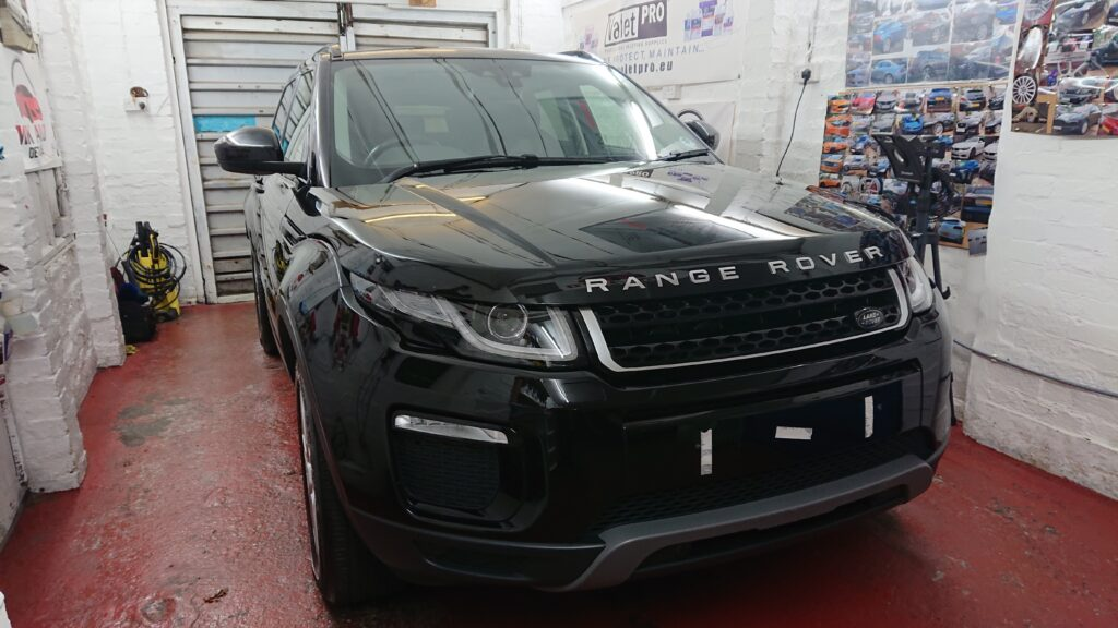 Range Rover Evoque polished awaiting its ceramic coating