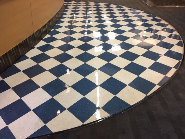 VCT tile stripping waxing