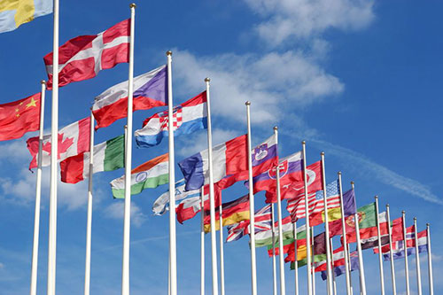 Picture of Several flags