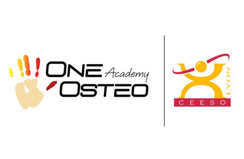 Both logos of OneOsteoAcademy and CEESO Lyon
