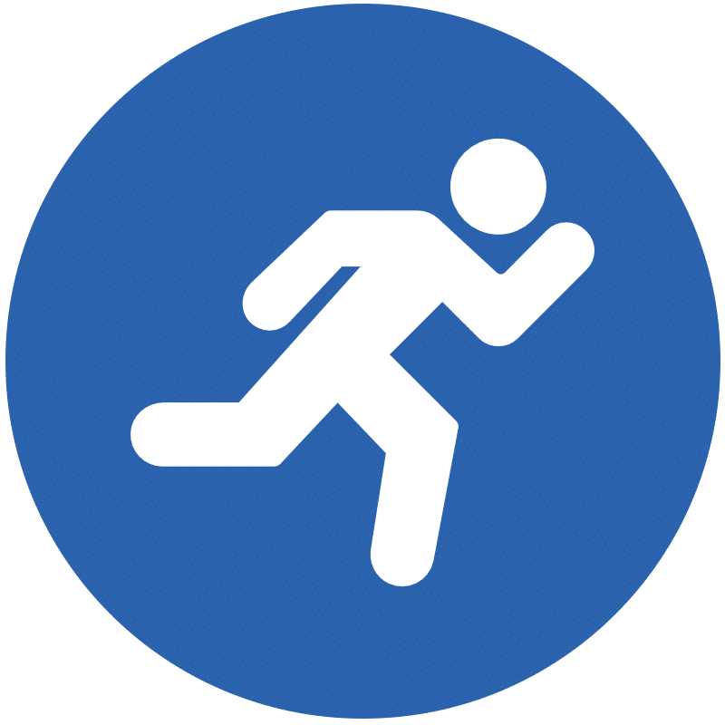 Icon representing an athlete running