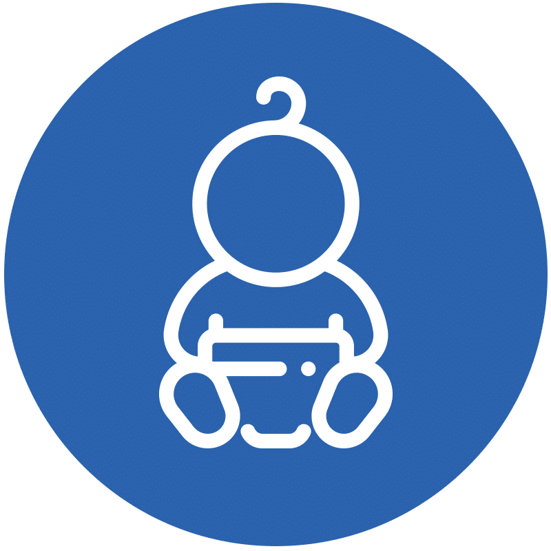 Icon representing a baby