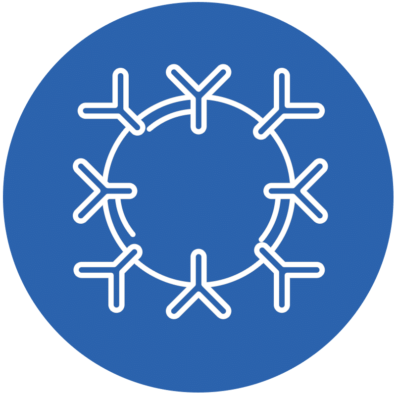 Icon representing a virux for ISD issues