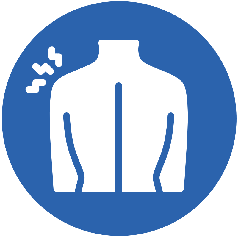 Icon representing shoulder pain