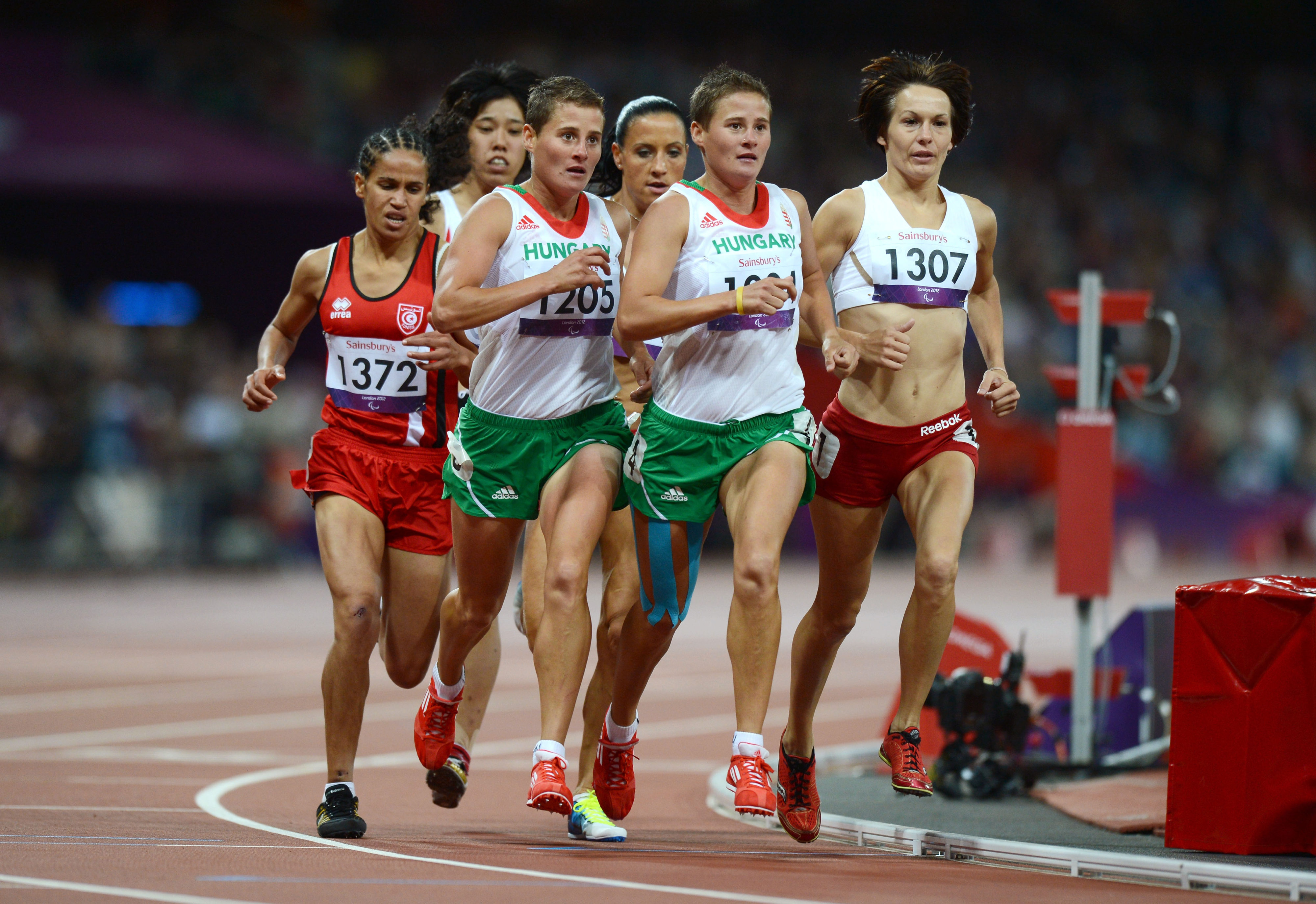A group of athletes running