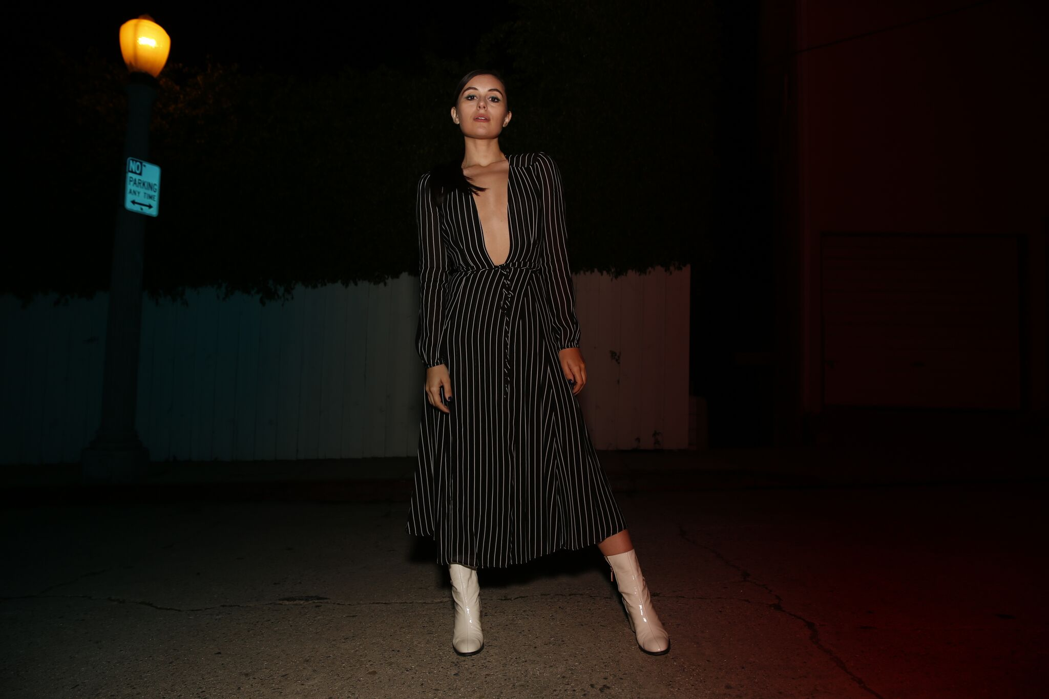 Marta Pozzan wearing a dress by Reformation