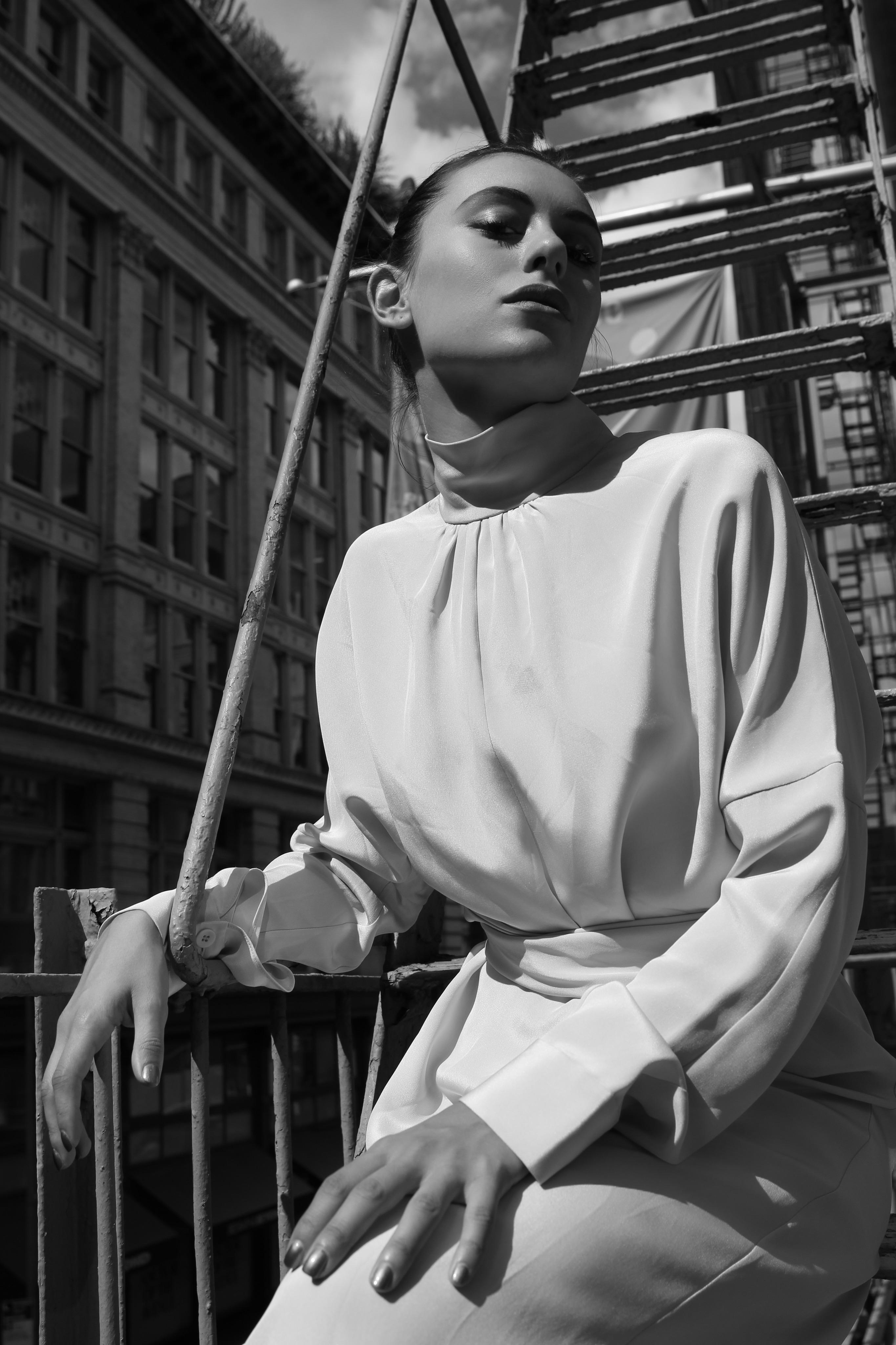 Model and actress Marta Pozzan in NY, 2017.