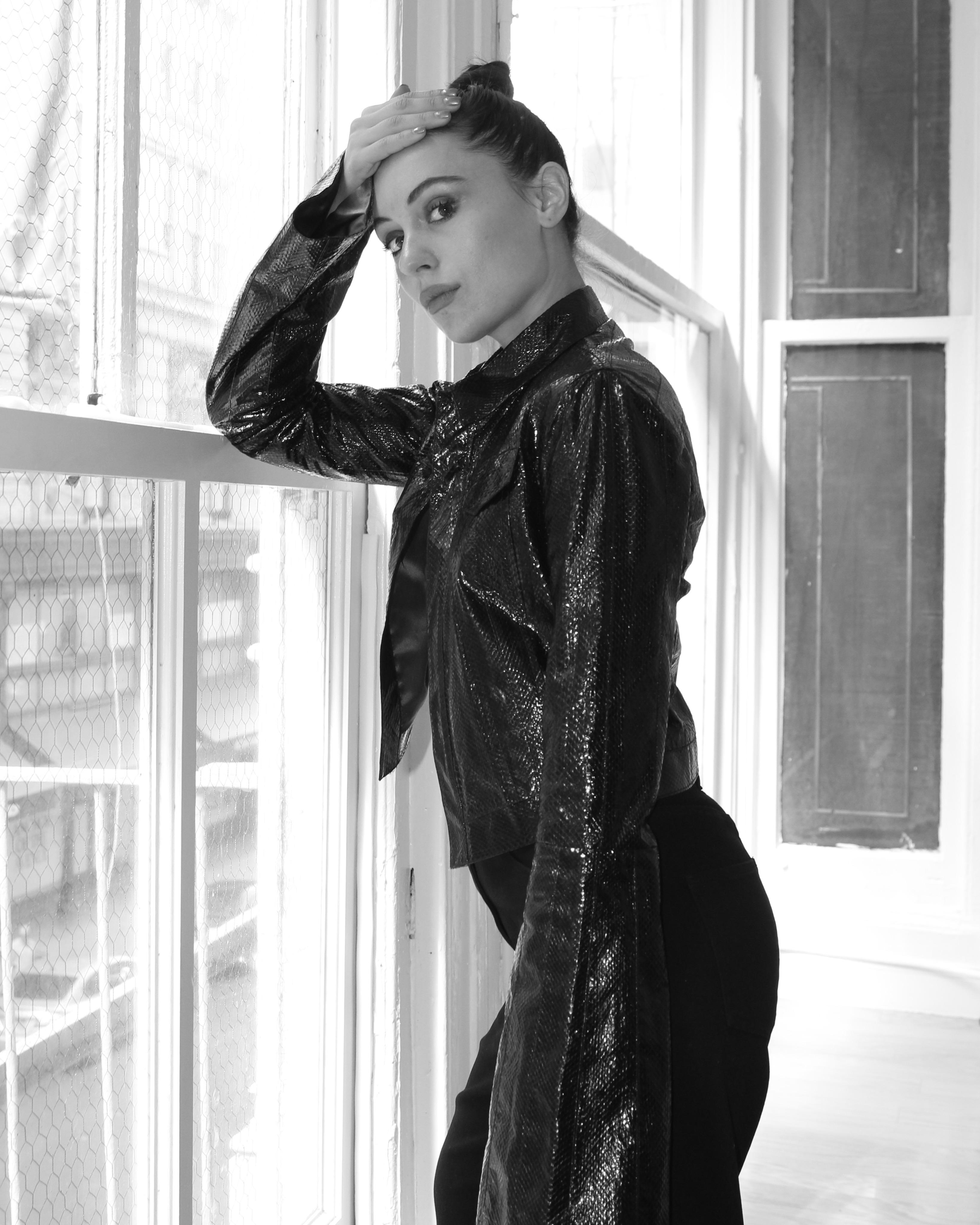Model and actress Marta Pozzan in NY, 2017 wearing BreeLayne.