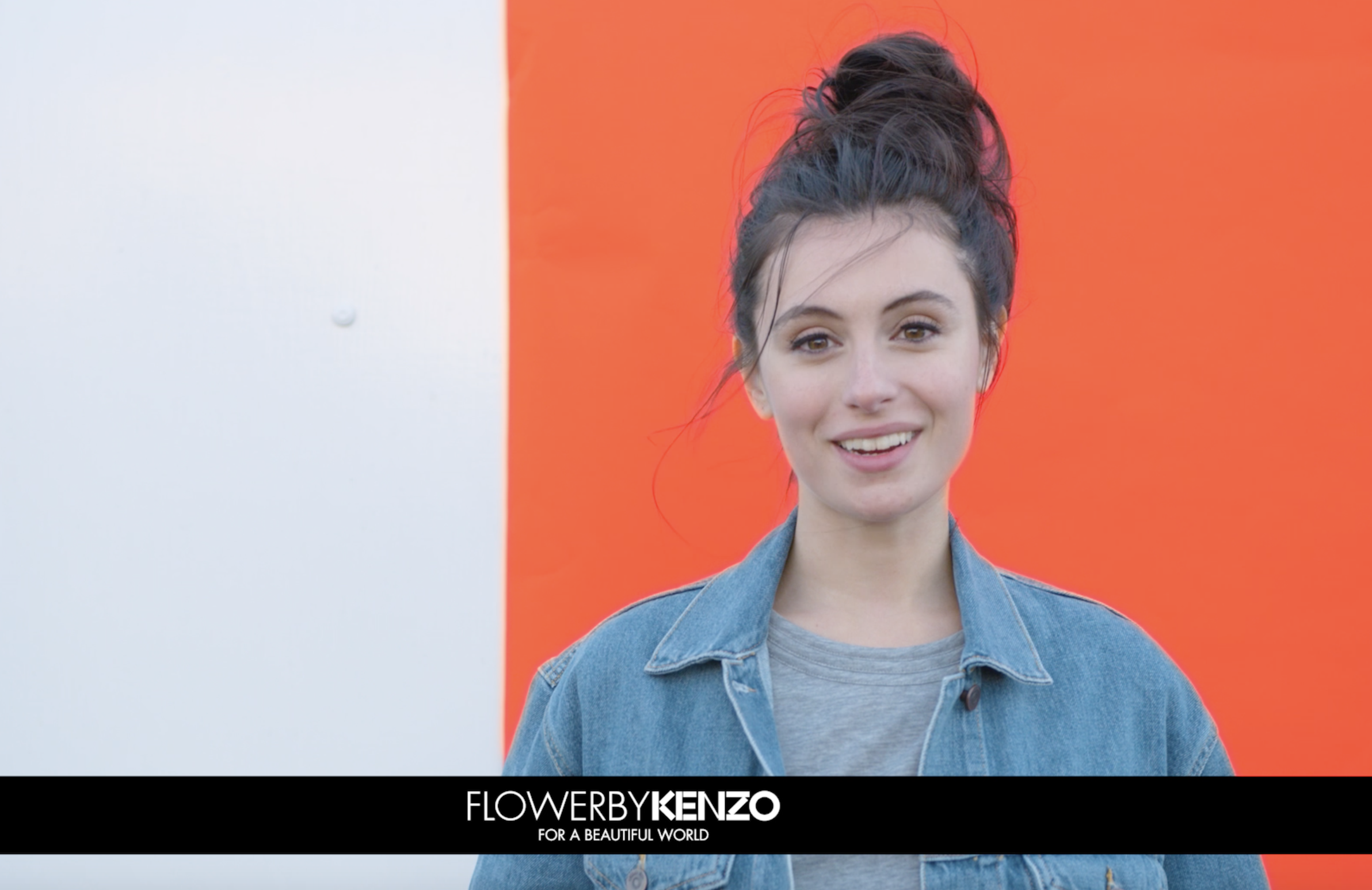 Actress and Influencer Marta Pozzan in the new Flower by KENZO film campaign.
