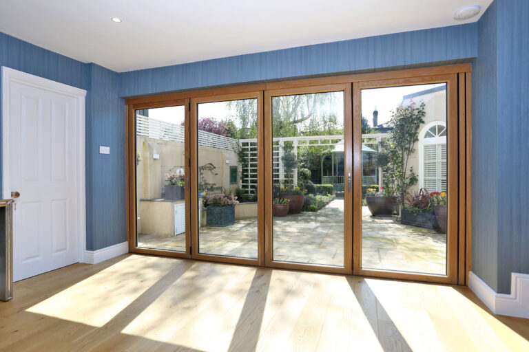 Bi-folding doors fully closed