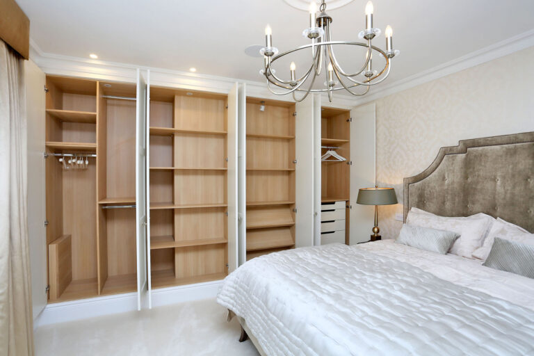 Bedroom Two after with bespoke fitted wardrobe