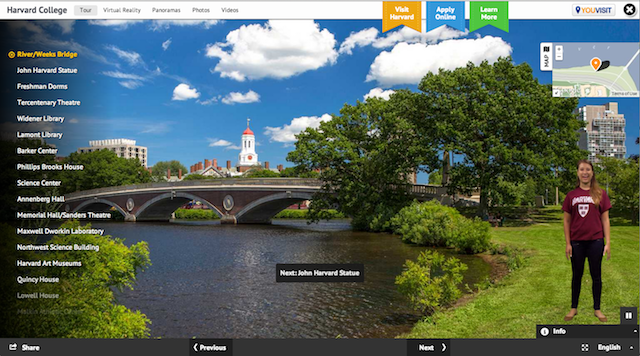 Harvard University virtual tour