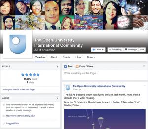 Open University International page
