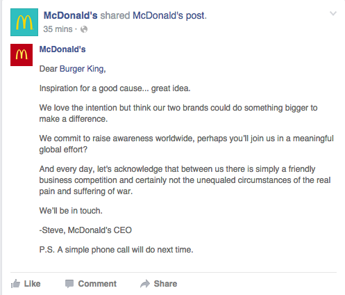 McDonald's response