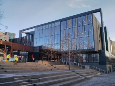 The front of the 'John Henry Brookes' building at Oxford Brookes University.