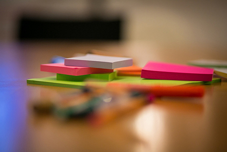 Post it notes. image under CC license courtesy of Christian Lendl