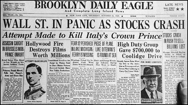 Wall Street Crash, 1929