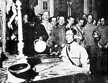 Sánchez-Cerro sworn in 1930