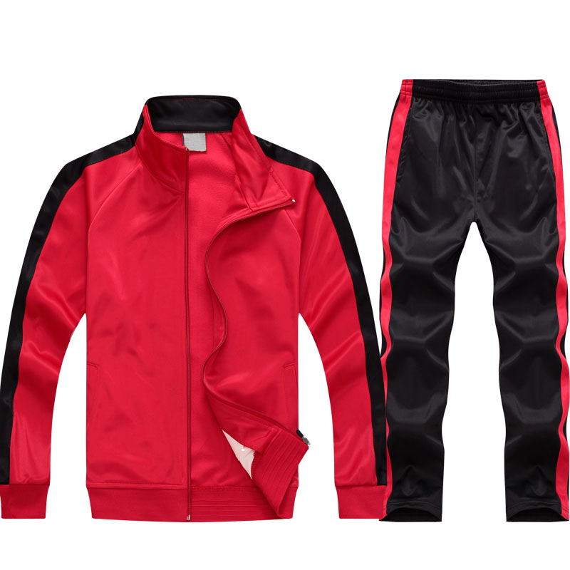 BLACK AND RED TRACKSUIT