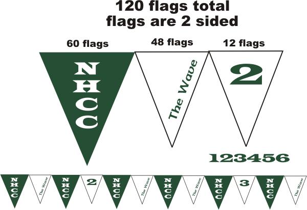 Printed Custom Backstroke Flags