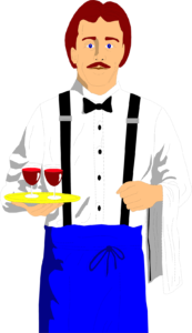 8067-illustration-of-a-waiter-with-wine-glasses-pv