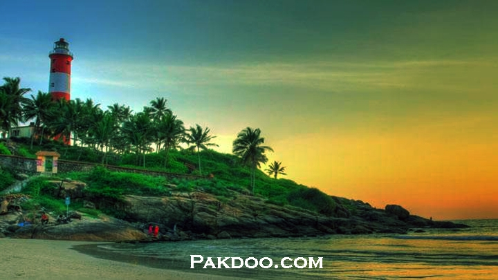 Kovalam is rated very place for couples to visit in kerala.