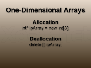 Memory allocation deallocation 2d array