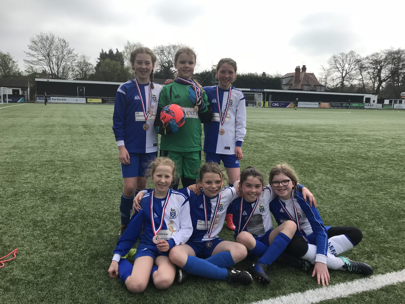 Apr 2019: U11s with their bronze medals from the League Gala