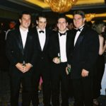 Formal outing with team mates Daragh O'Mahoney, Manager Barney Keeler and Tim Horan