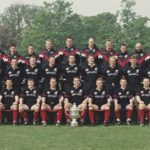 Tettly's Bitter cup winning squad during Nigels first tenure at Saracens in 1997-1998
