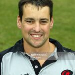 LONDON - SEPTEMBER 1:  A portrait of Nigel Roe of Saracens during the Saracens rugby union photocall on September 1, 2003 at Bramley Road Ground in Southgate, London. (Photo by David Rogers/Getty Images)