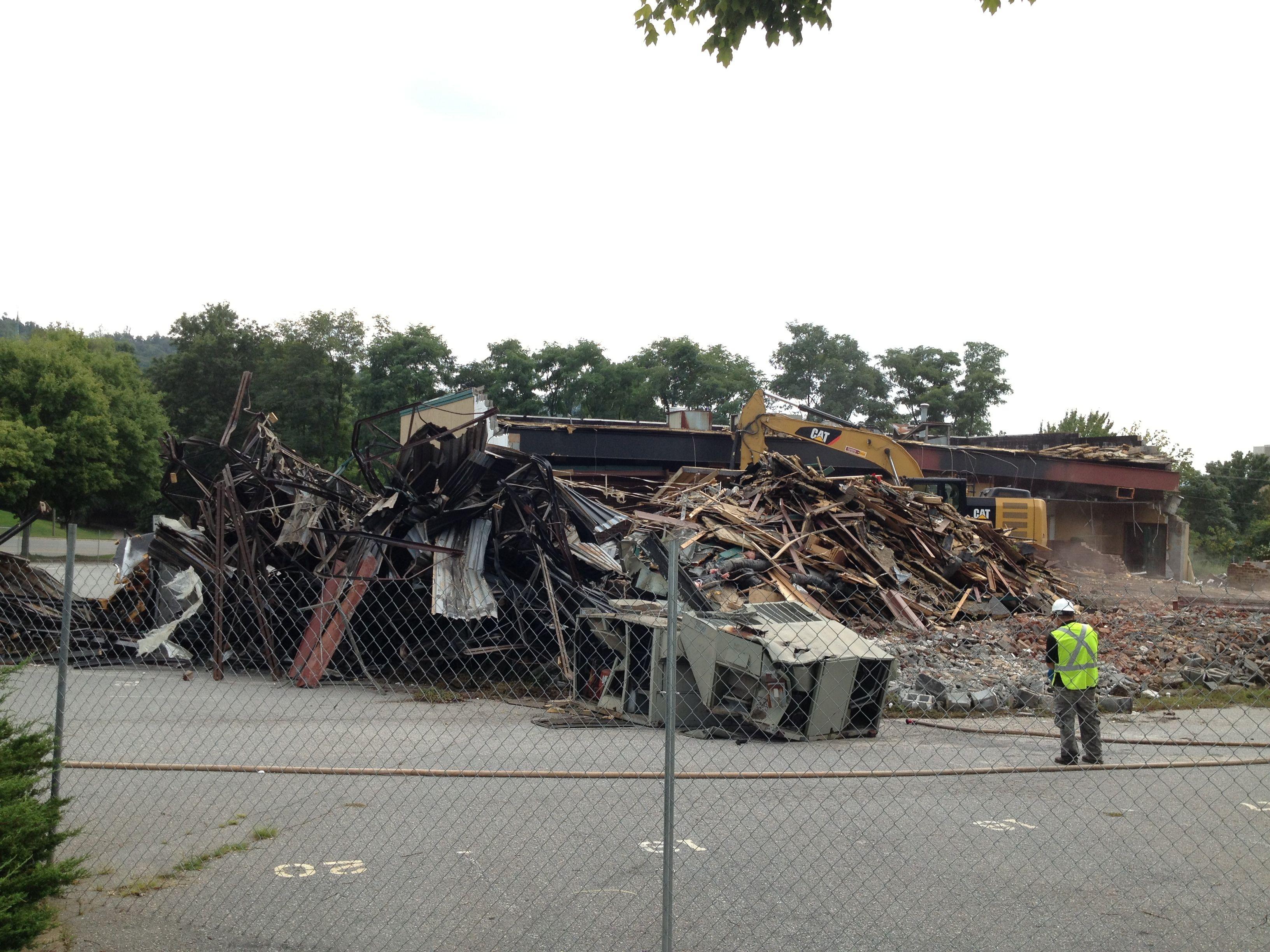 PHOTOS Demolition of former TK Tripp's restaurant in downtown Asheville