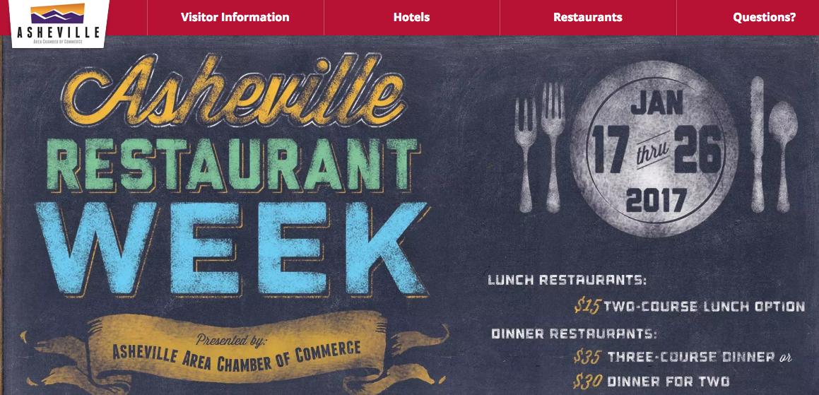 Asheville Restaurant Week, set for Jan. 17-26, celebrates local eateries
