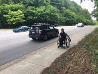 On Hendersonville Road, a man, his wheelchair and resolve